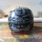 Wakeboard Helm Design Back 2014  Graffiti, Arirbrush und Marker